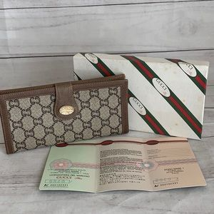 GUCCI PLUS PVC Long Wallet  *Vintage